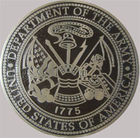 18 inch Diameter Cast Bronze Army Seal
