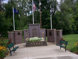Military Memorial Wall Completed 2009, Bronze Military Seals & Perpetual Plaques