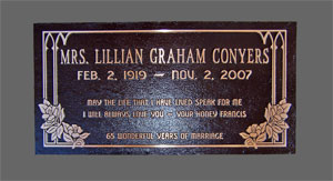 24 inch x 12 inch Cast Bronze Plaque, Custom Graphics, Dark Oxide Background, No Border