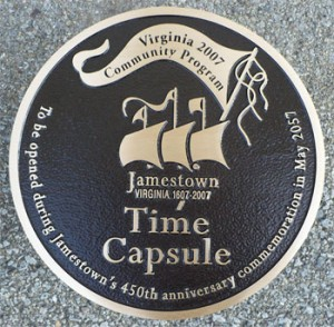 11.5 inch Diameter, Cast Bronze Plaque, Flat Relief Graphics, Single Line Border, Black Pebbled Back