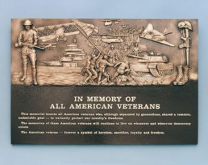 36 inch x 24 inch Cast Bronze, All American Vets Bas Relief Portaits With Extraordinary Detail