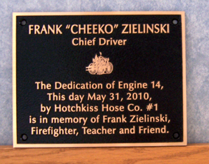 9 inch x 7 inch Cast Bronze, Black Pebbled Background, Single Line Border, Flat Relief Graphics